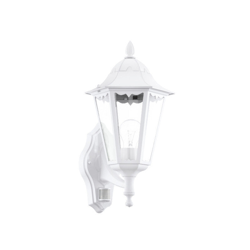 Eglo navedo white finish outdoor pir wall light 93447 eglo navedo white finish outdoor pir wall light 93447 by eglo outdoor lighting mozeypictures Images