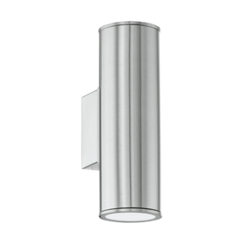 Eglo Riga Stainless Steel Finish Outdoor 2 Light LED Wall 94107