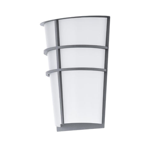 Eglo Breganzo Silver Finish Outdoor 2 Light LED Wall 94137