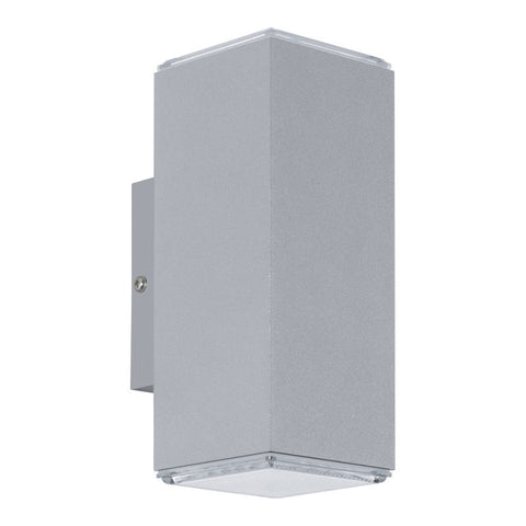 Eglo Tabo Silver Finish Outdoor 2 Light LED Wall 94186 By Lighting