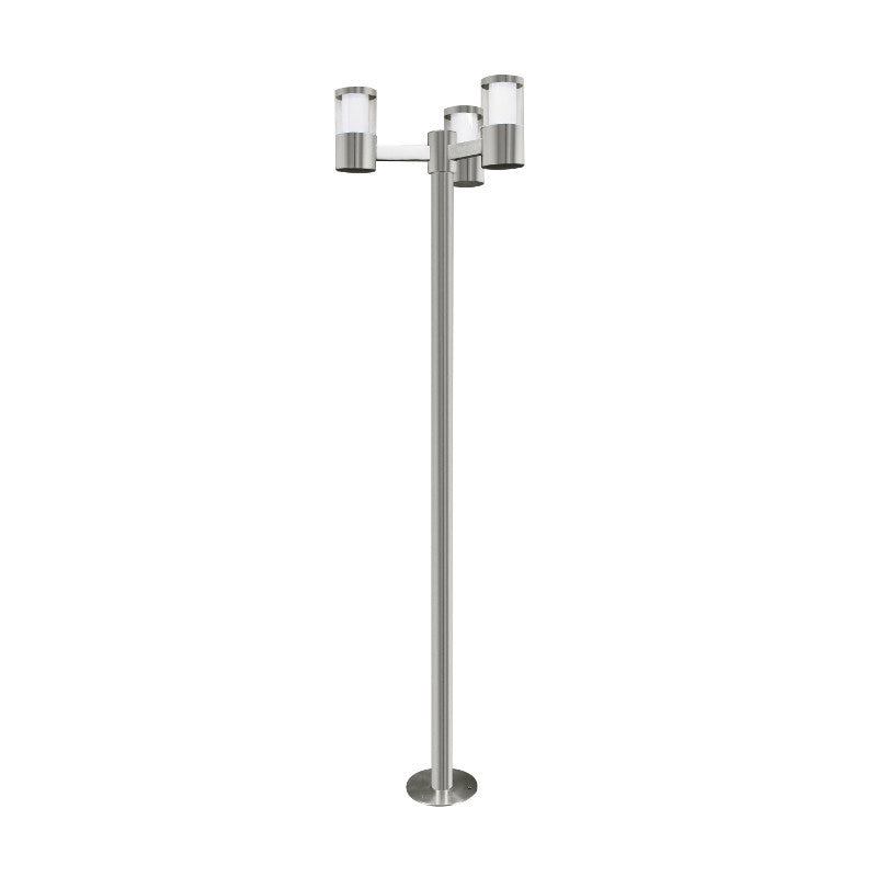 Eglo basalgo 1 stainless steel finish outdoor 3 light led lamp post eglo basalgo 1 stainless steel finish outdoor 3 light led lamp post light 94281 by eglo aloadofball Image collections