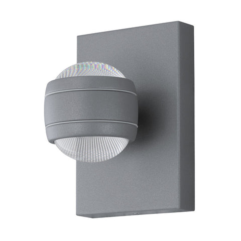 Eglo Sesimba Silver Finish 2 Light Outdoor LED Wall 94796