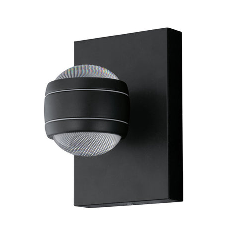 Eglo Sesimba Black Finish 2 Light Outdoor LED Wall 94848