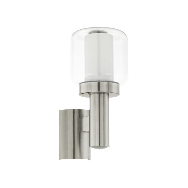 Lighting Eglo Poliento Stainless Steel Finish Outdoor Wall Light 95016