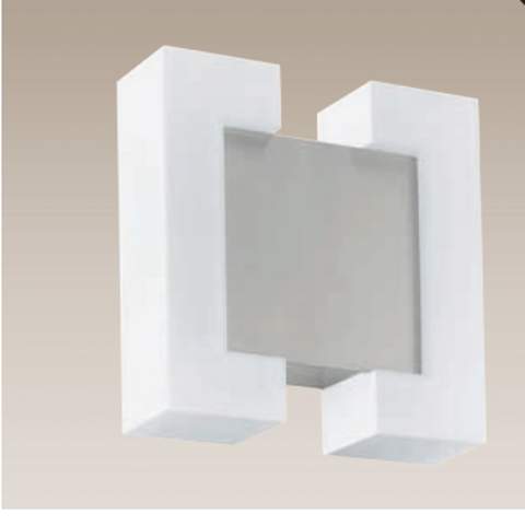 Eglo Sitia Satin Nickel Finish Outdoor LED Wall Light 95987