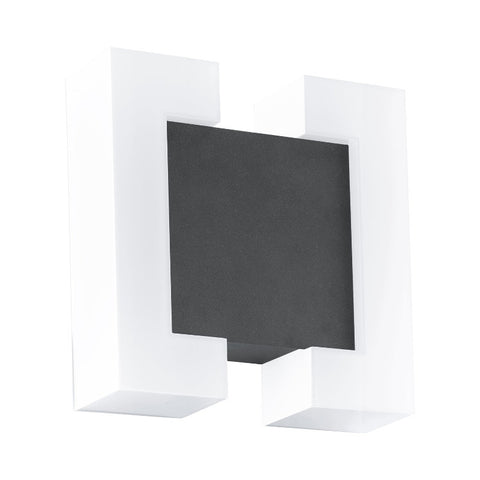 Eglo Sitia Anthracite Finish Outdoor LED Wall Light 95988