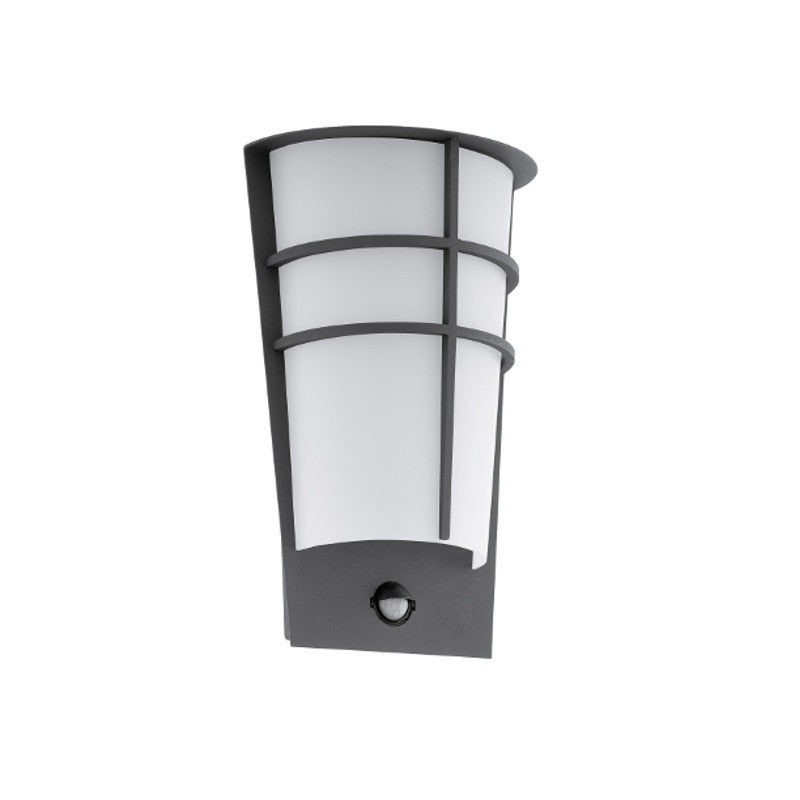 Eglo breganzo anthracite finish outdoor 2 light led pir wall light eglo breganzo anthracite finish outdoor 2 light led pir wall light 96018 by eglo outdoor lighting mozeypictures Gallery