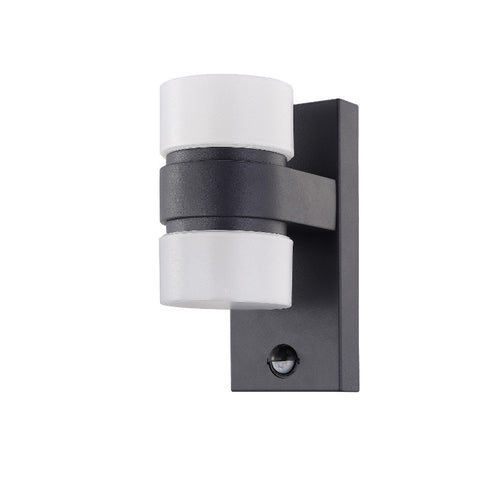 Eglo Atollari Anthracite Finish Outdoor 2 Light LED PIR Wall 96276