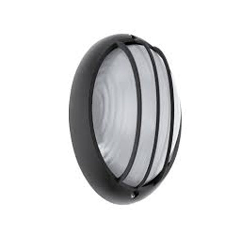 Eglo Siones Black Finish Outdoor LED Flush Ceiling Wall Light 96339