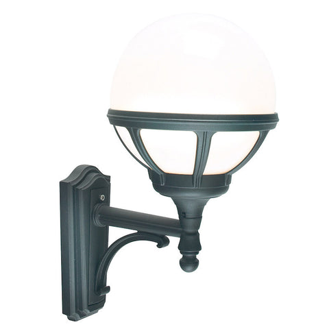 Elstead Bologna Black Finish Outdoor Uplighter Wall Lantern