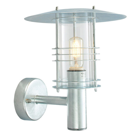 Outdoor lighting sale clearance lines tagged 150 300 elstead stockholm large galvanised steel outdoor wall lantern aloadofball Images