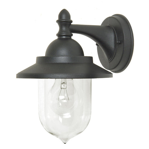 Outdoor lighting sale clearance lines elstead sandown black finish outdoor wall lantern aloadofball Choice Image