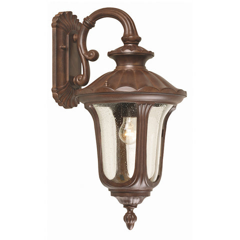 Elstead Chicago Rusty Bronze Patina Medium Outdoor Downlighter Wall Lantern
