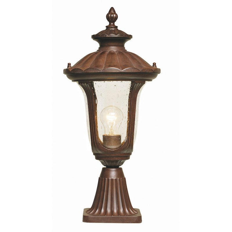Elstead chicago rusty bronze patina small outdoor pedestal lantern elstead chicago rusty bronze patina small outdoor pedestal lantern aloadofball Choice Image