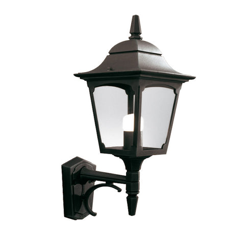 Elstead Chapel Black Finish Outdoor Uplighter Wall Lantern