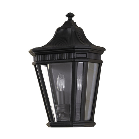 Outdoor lighting sale clearance lines tagged 75 150 elstead cotswold lane black outdoor half wall lantern aloadofball Images