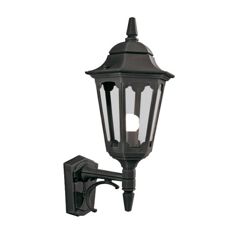 Elstead Parish Black Finish Outdoor Uplighter Wall Lantern