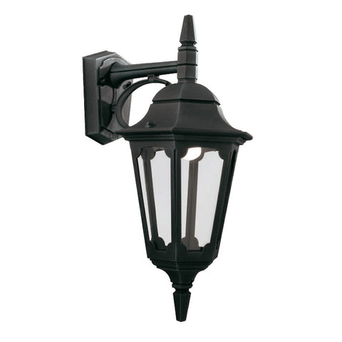 Elstead Parish Black Finish Outdoor Downlighter Wall Lantern