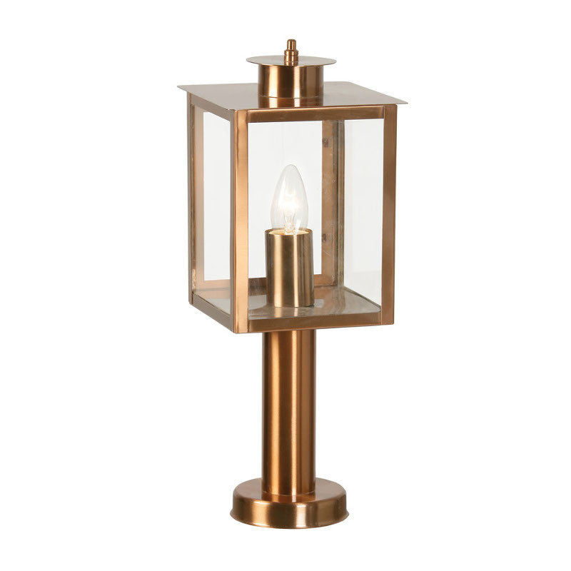 Oaks saxton copper finish outdoor pedestal light 536 ped cu oaks saxton copper finish outdoor pedestal light 536 ped cu by oaks outdoor lighting aloadofball Choice Image