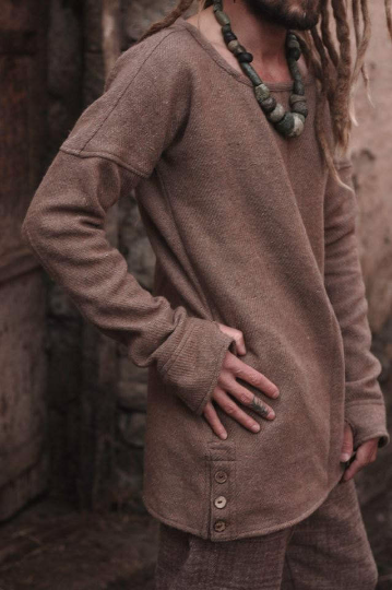 Wool sweater for men ~ Brown Color