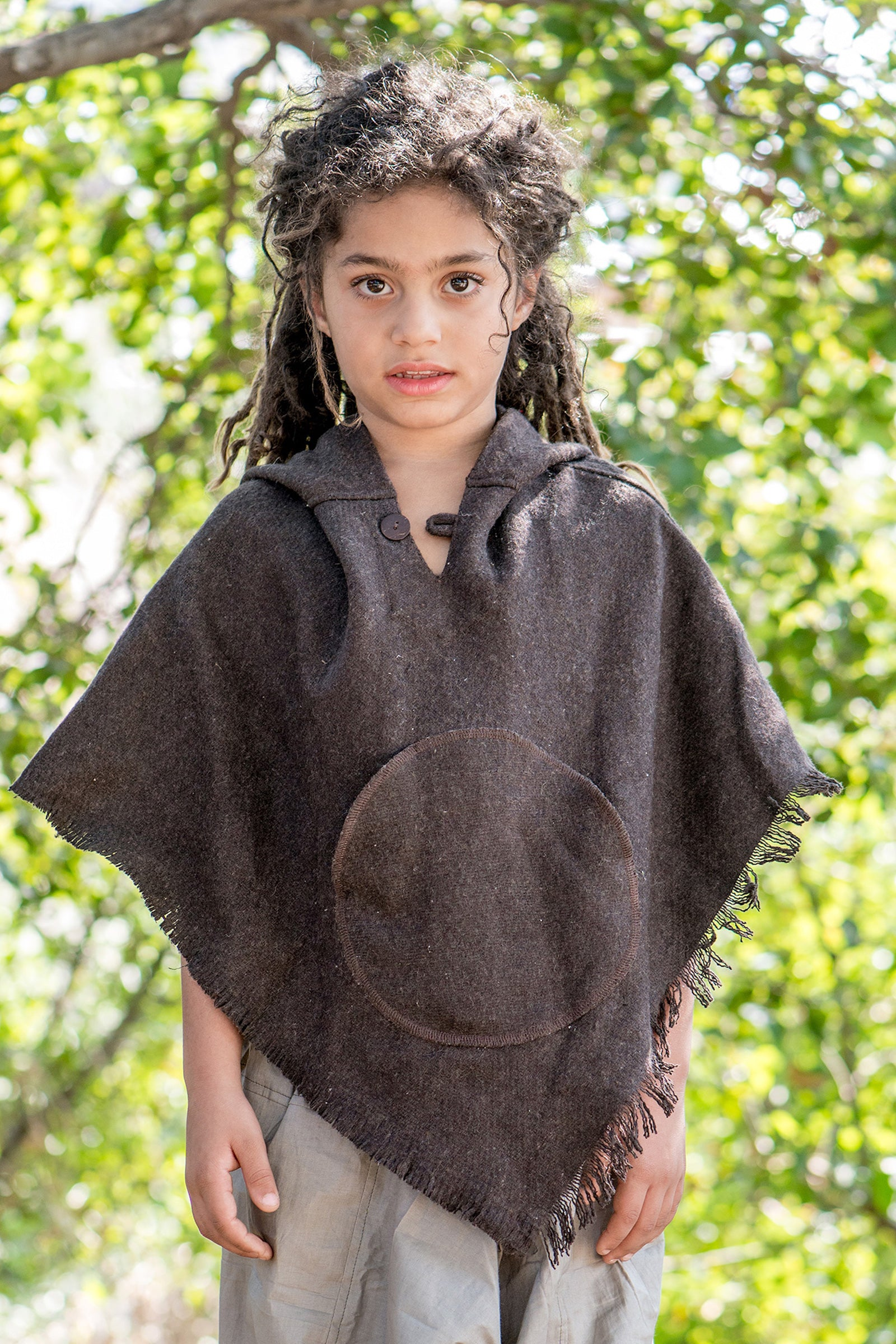 Thick Wool Poncho For Kids. Pure Handwoven Wool poncho.