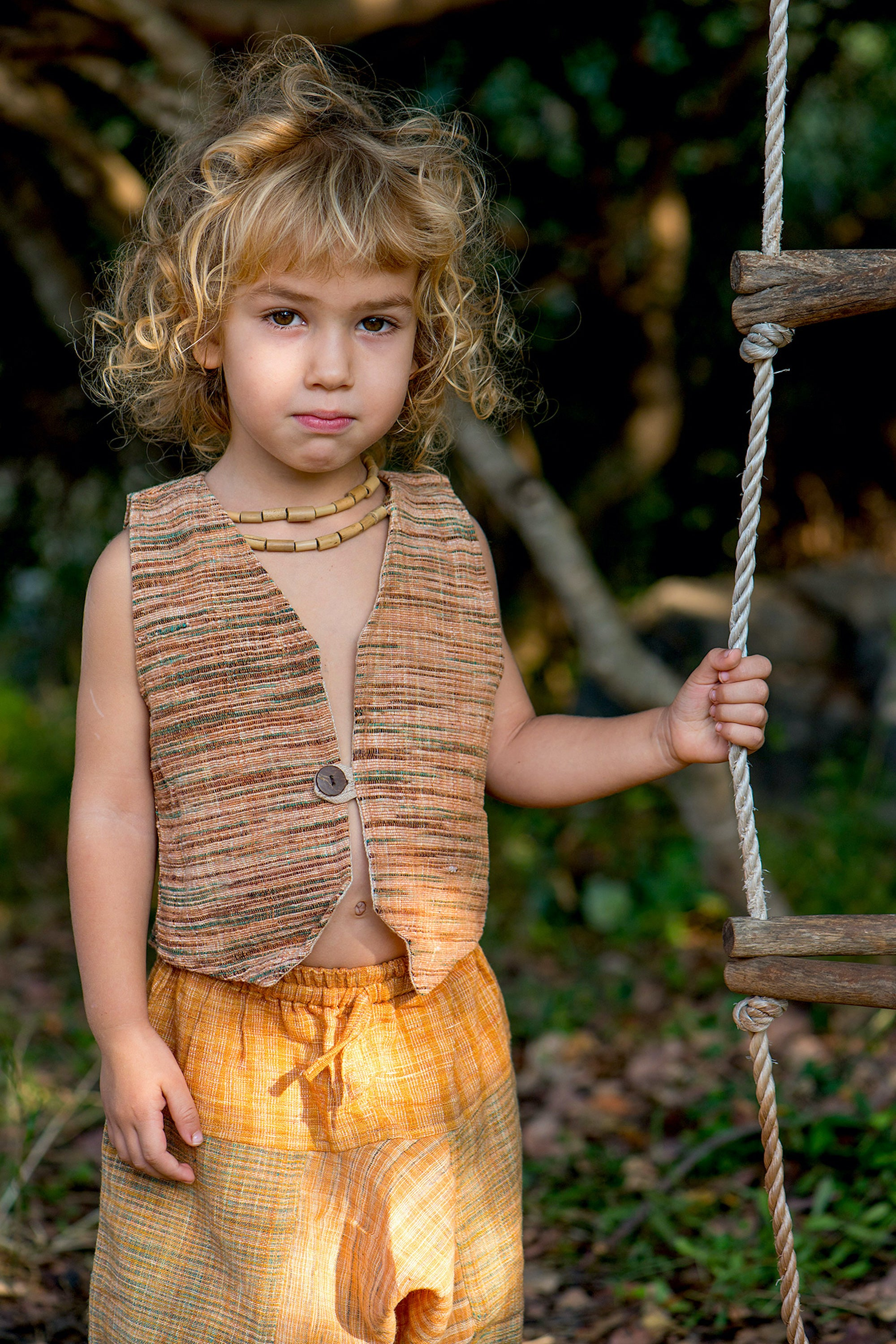 Children Vest • Handwoven Khadi Cotton • Earth Children • Handwoven Vest • Earthy Clothing For Kids