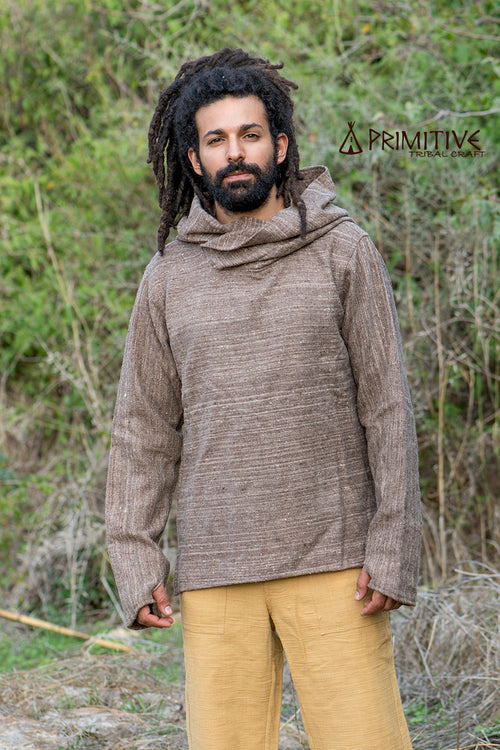 Brown Pullover ⫸ Handwoven Himalayan Wool