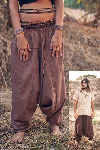 Unisex Hemp Cotton Thai Harem Pants