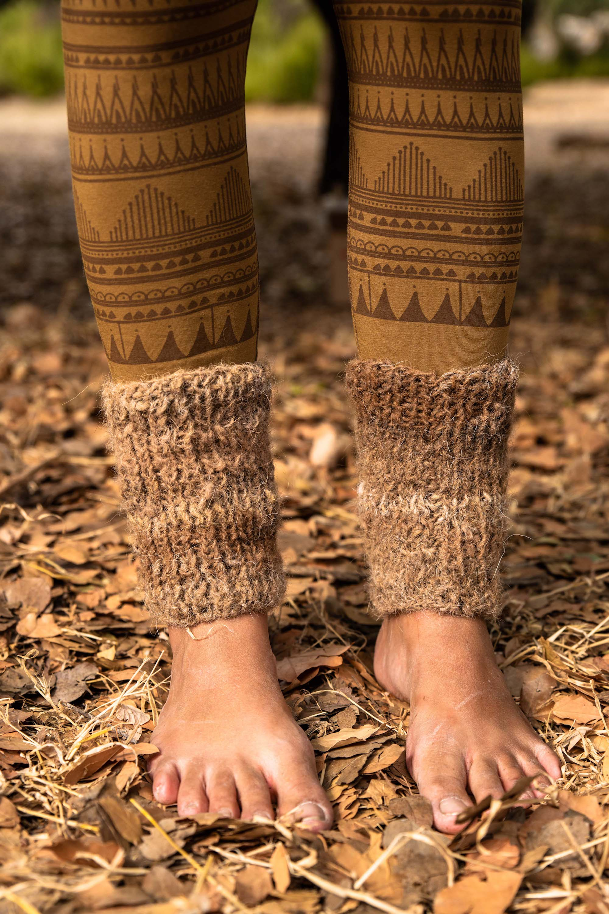 Knitted Camel wool Cuffs