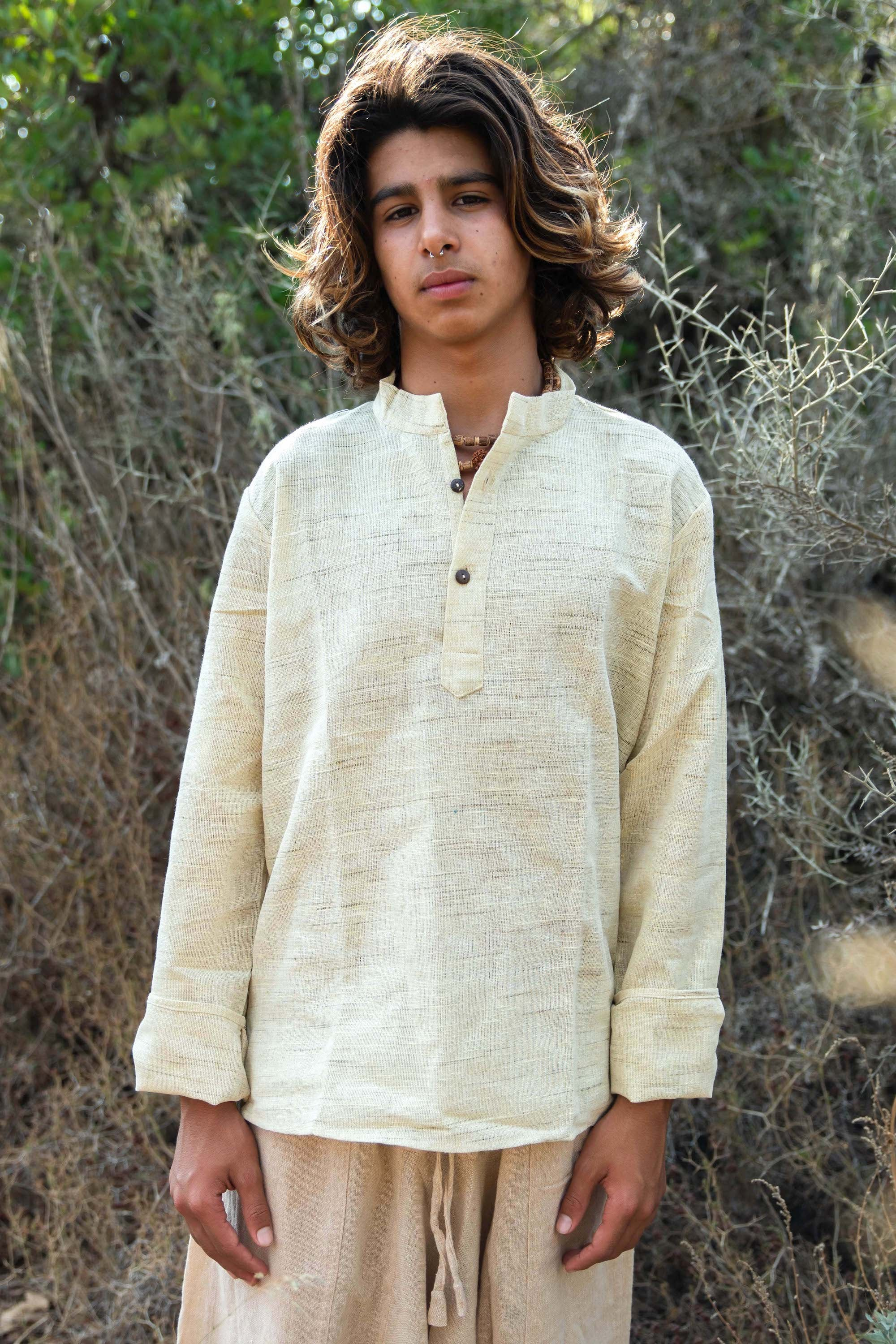 Earthy Short Kurta For Boys