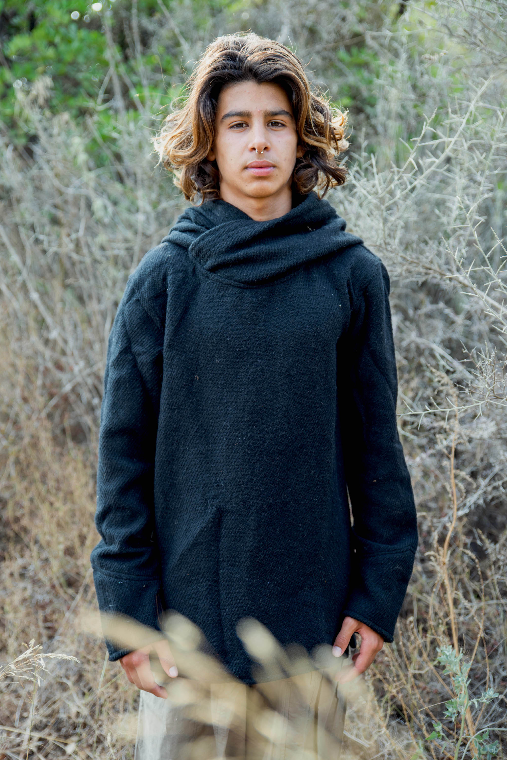 Pullover Hoodie • Wool Cotton Blend • Boys Size • Men XS • Earth Children