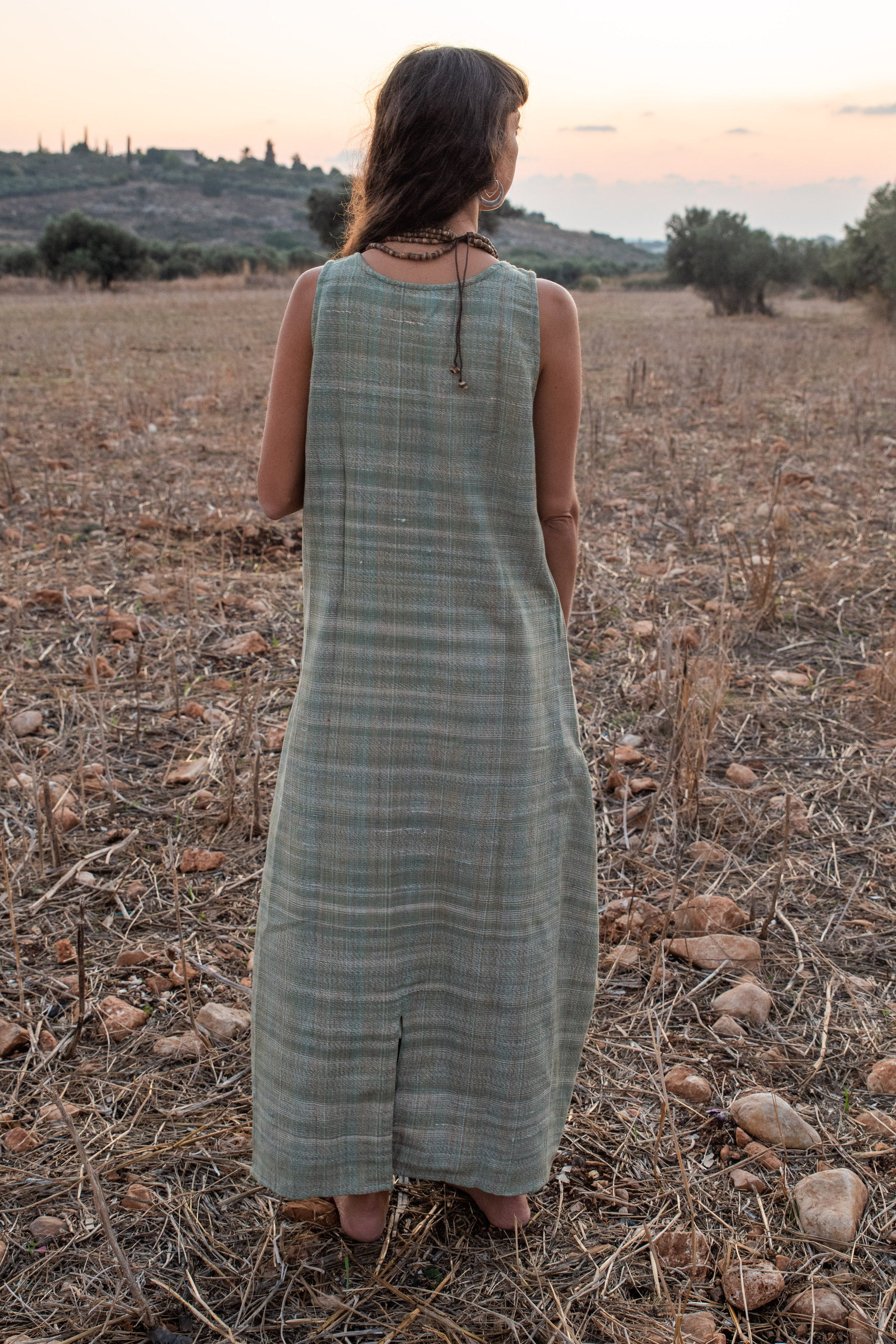 Sangam Dress. Khadi Cotton Dress. Handwoven Cotton Dress