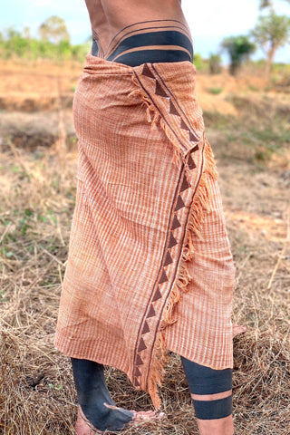 Earthy Raw Silk Shawl ๑⋙ Handwoven Plant Dyed ⋙⋗ ROSE BROWN