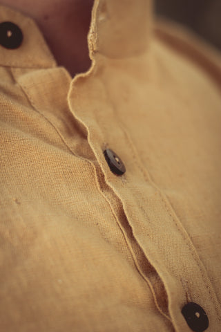 Brown Pullover with Hoodie ~ Natural dye khadi cotton