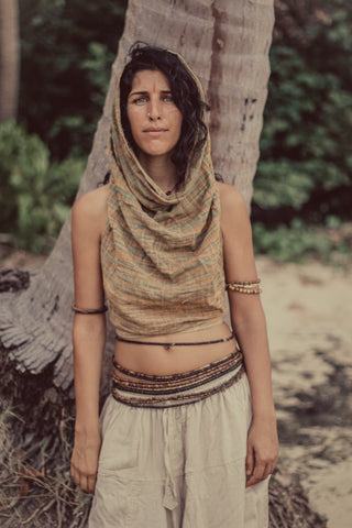Earth Frayed Top • Natural Cotton