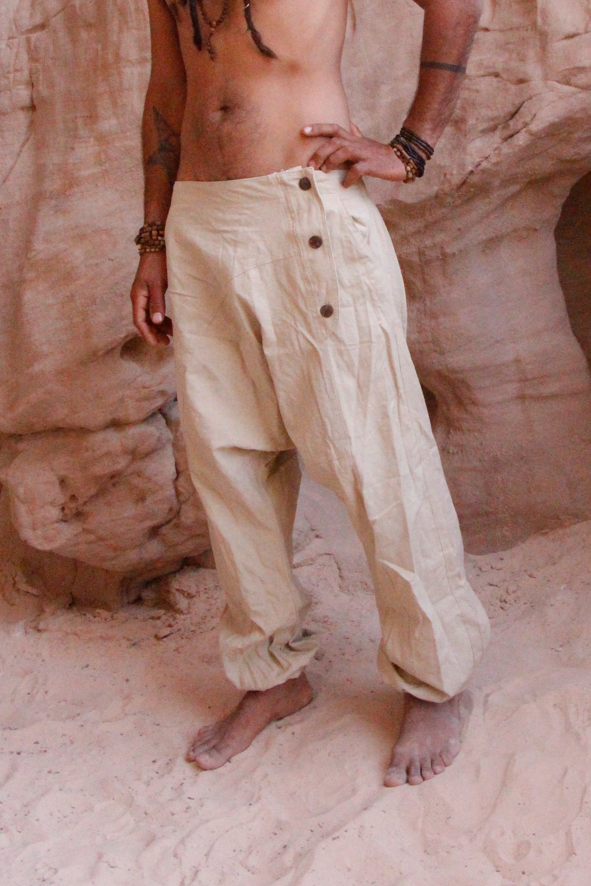 Semi Afghani Pants ~ Natural Color ~ Harem Pants