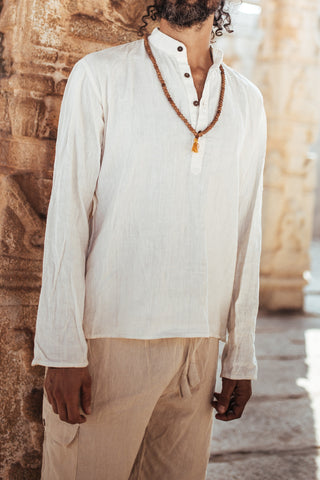 Gandhi Shirt From Khadi Cotton