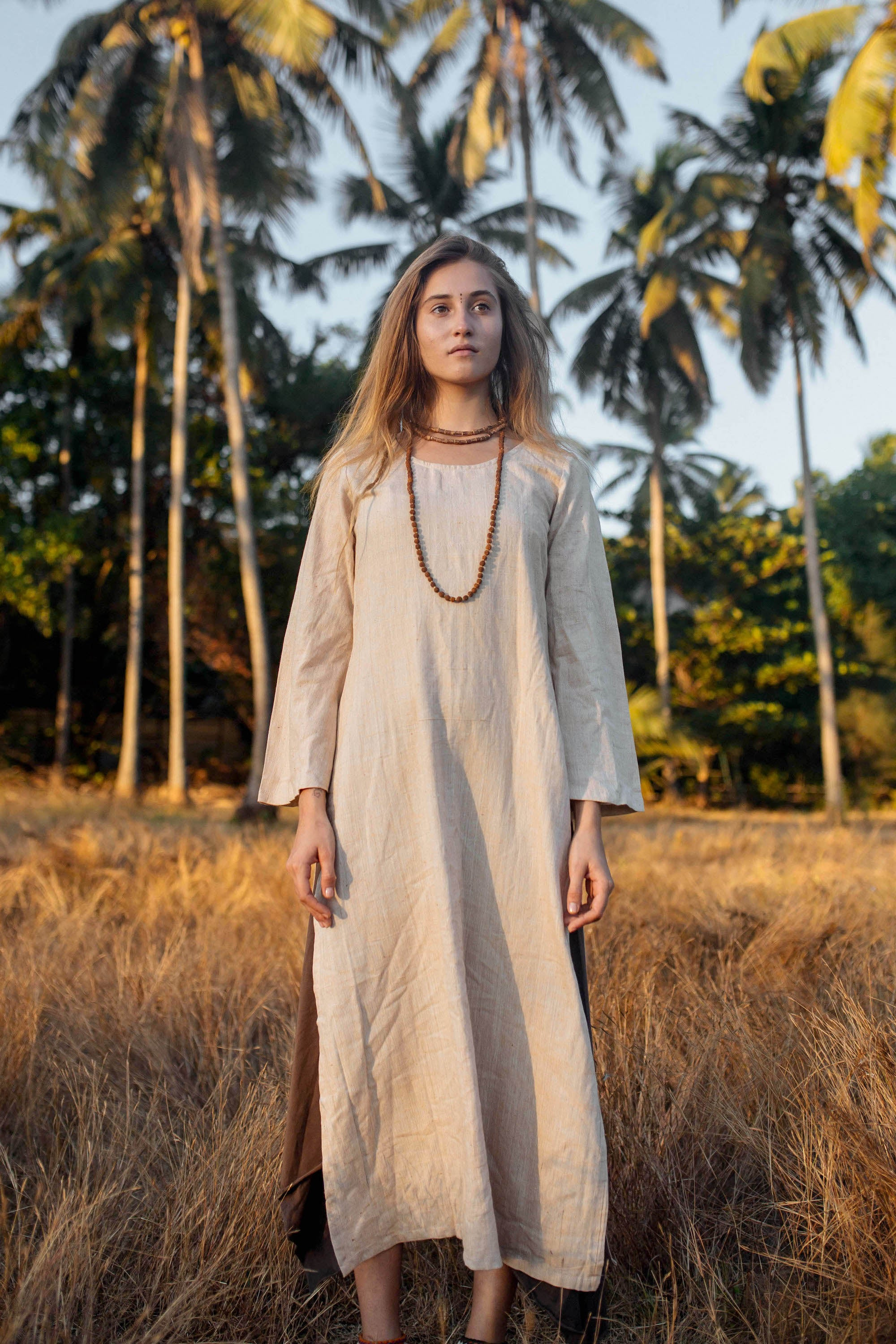 Organic Cotton Long Sleeve Kurta Dress