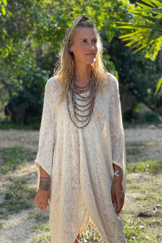 Handwoven Cotton Natural Dye ponchos ⫸ SET of 2