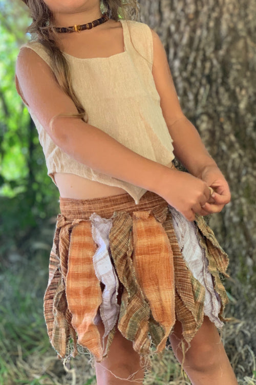Khadi Magic Leaves ⋙ Pixie Skirt / Belt for Children