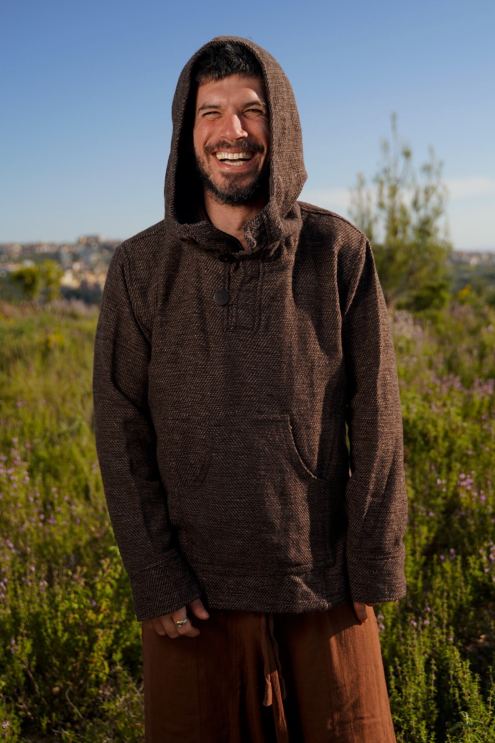 Hooded Pullover ~ Wool & Cotton Blend