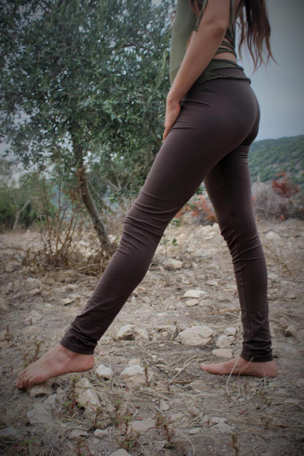 Extra Long Plain Leggings ⫸ Organic Cotton (L-XL-XXL) ⫸ Casual Tall Length Tights