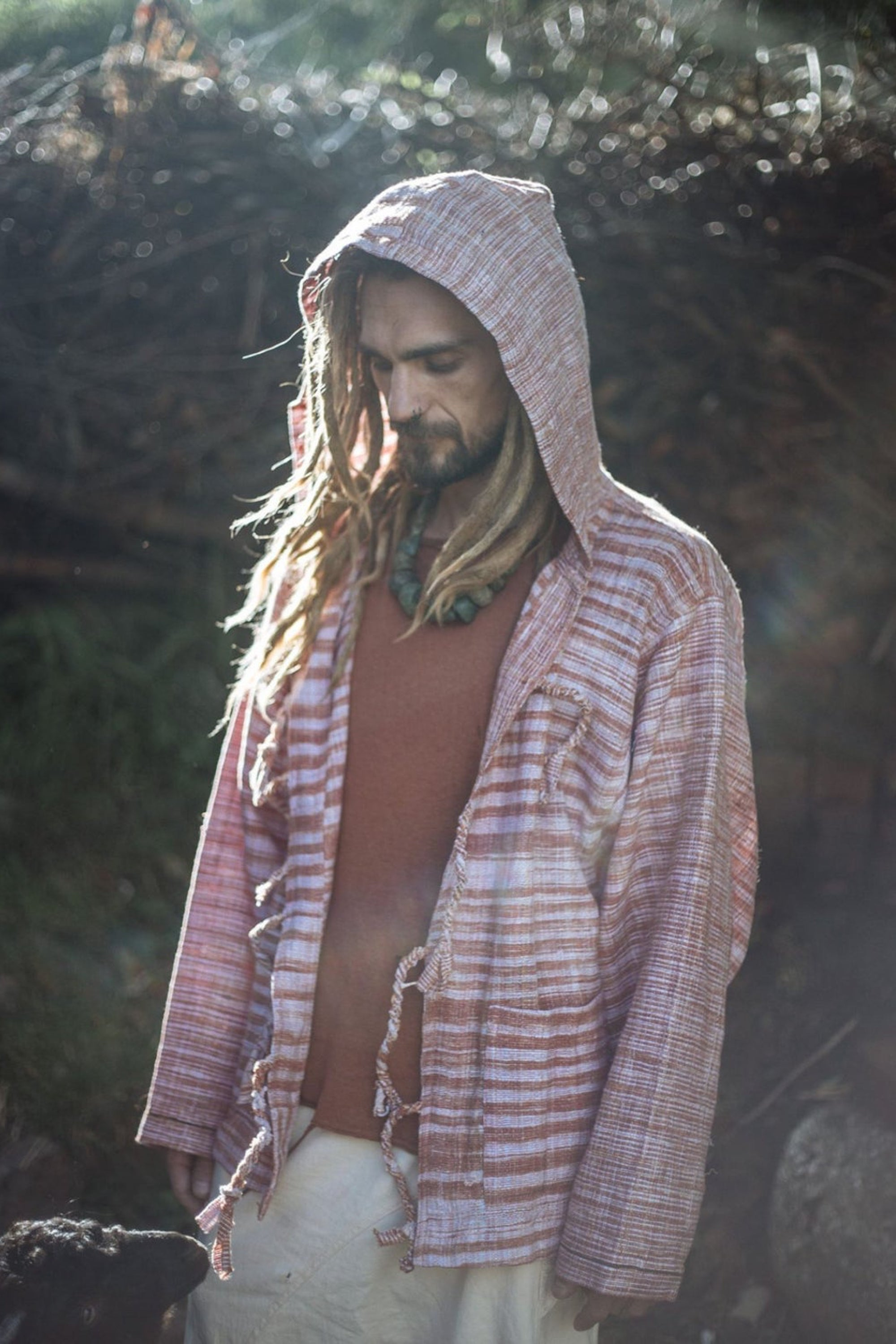 Khadi Cotton Tribal Jacket ~ Arrows