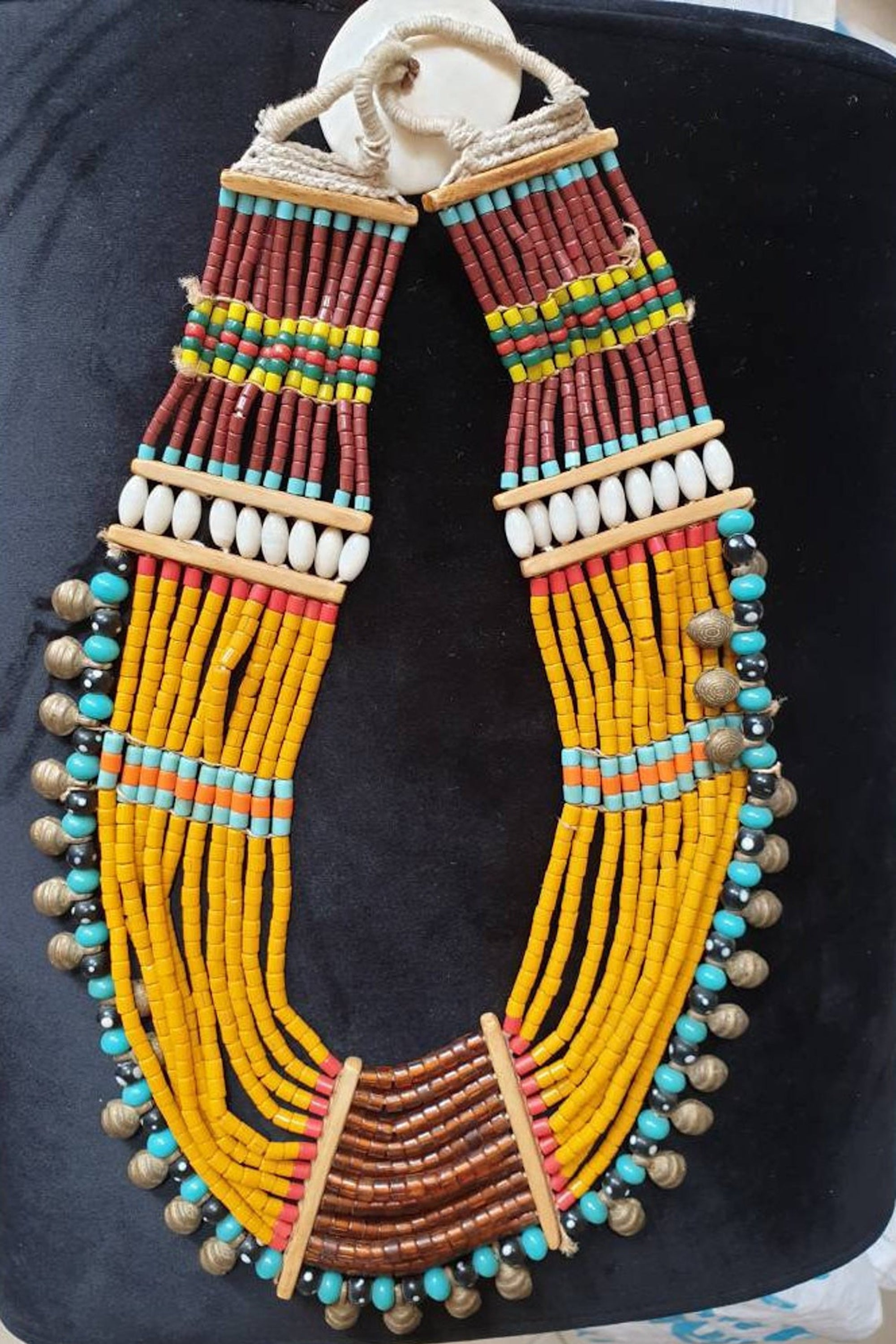Large Konyak Tribal Necklace . Nagaland Original Tribal Necklaces . Tribal jewelry . Ethnic necklace .