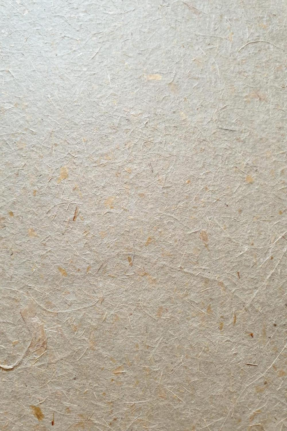 Handmade paper sheet made of New Zealand flax fibers
