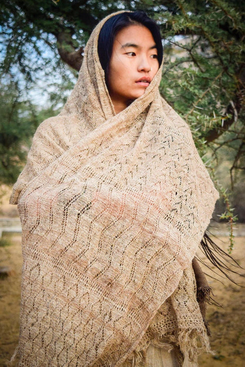 Nettle Shawl ~ From Himalayan Nettle ~