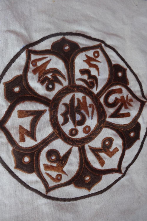 Embroidery Patch ~ Om Mane Padme Om ~ Size L