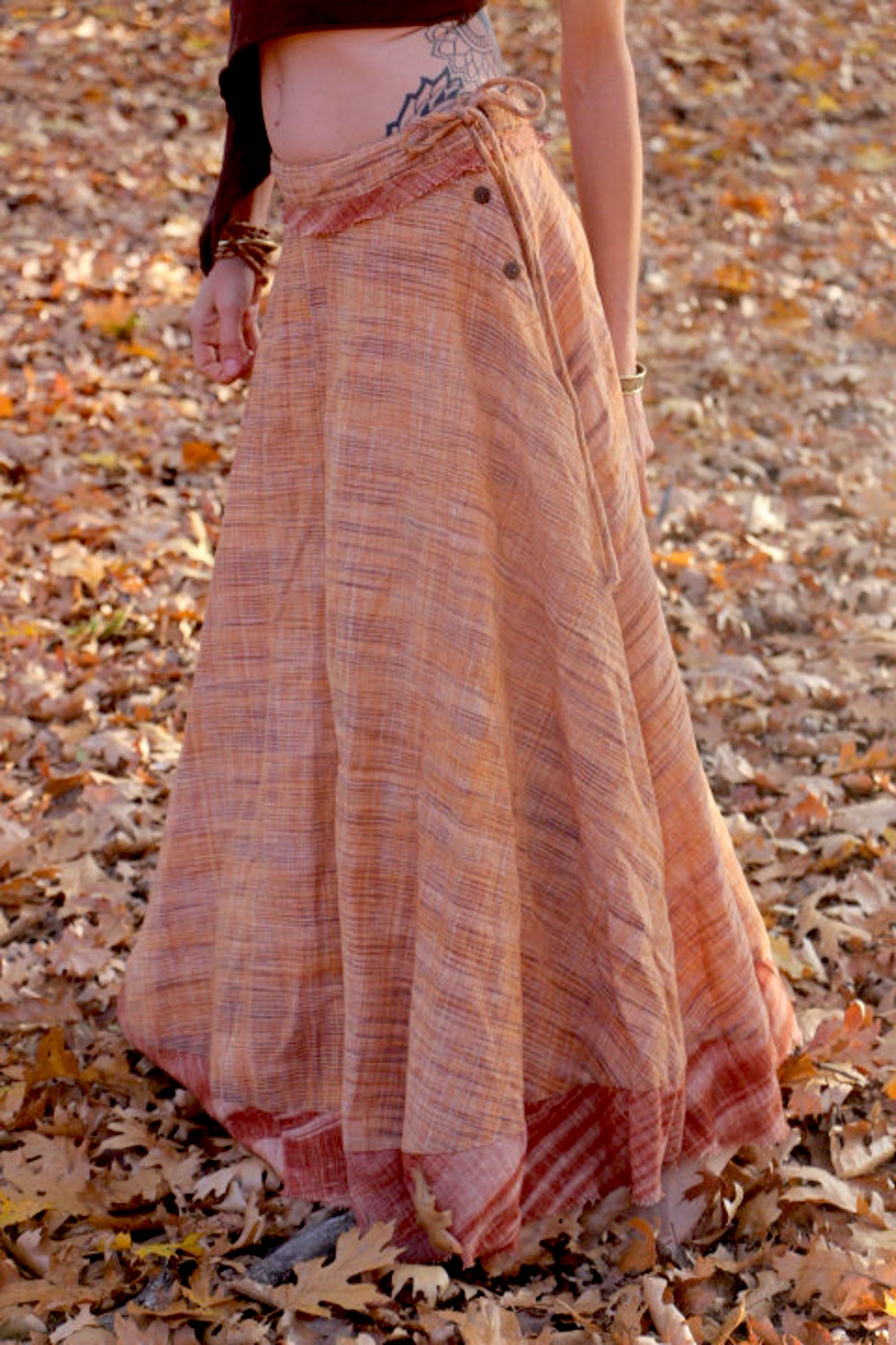 Wide Bell Skirt ~ Khadi Cotton