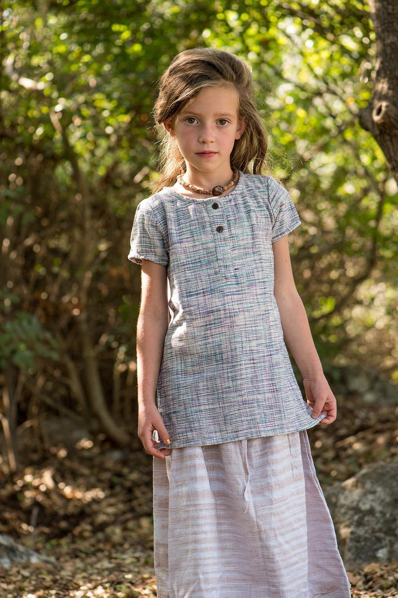 Earth Children Khadi Cotton Short Sleeves Top
