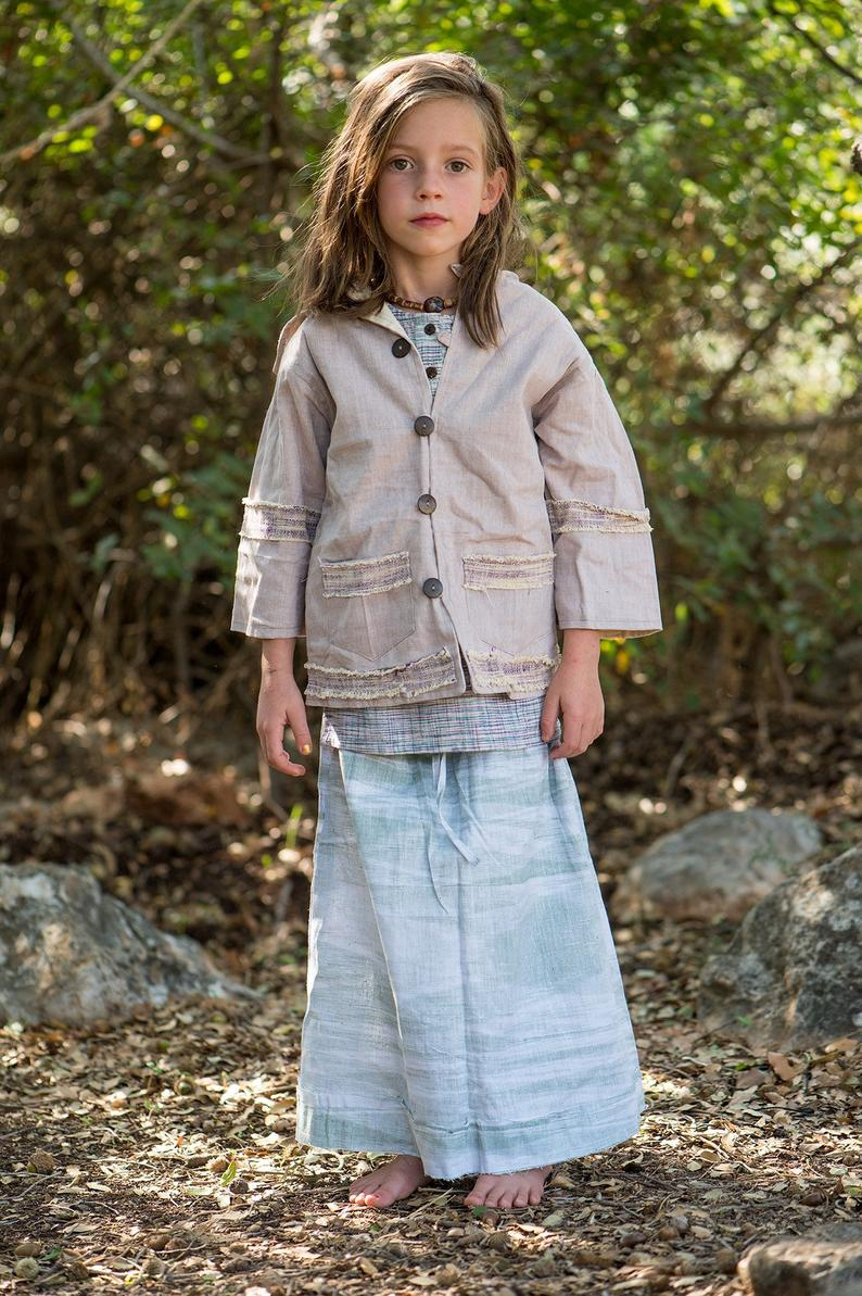 Earth Fairy Girls Skirt • Khadi Cotton